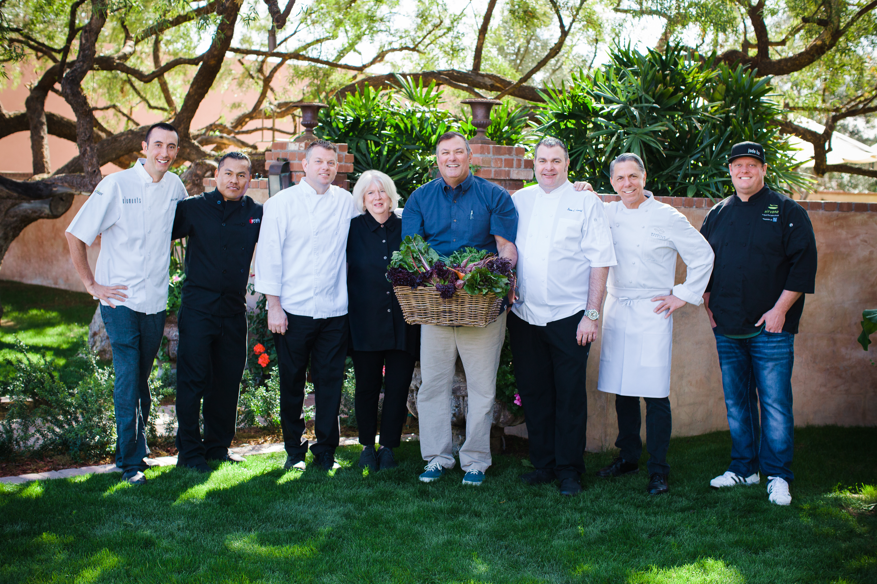 Pat Duncan and chefs